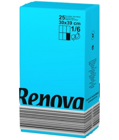 Renova Guardanapo Black Label AZUL 2F 25un