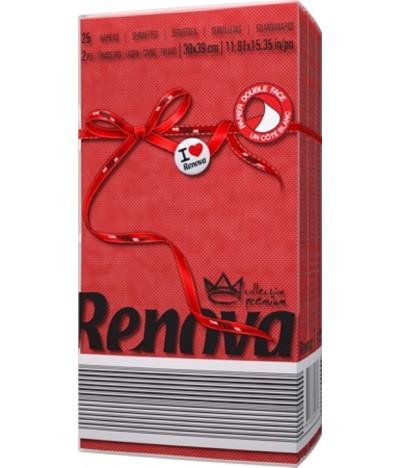 Renova Guardanapo Red Label VERMELHO 2F 25un