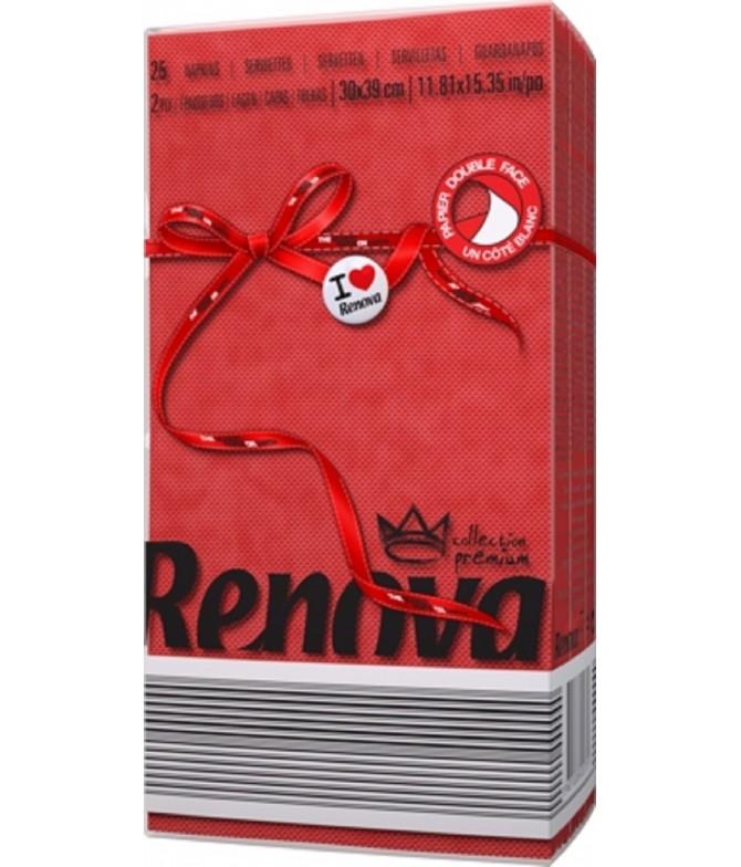 Renova Servilletas Red Label ROJO 2C 25un