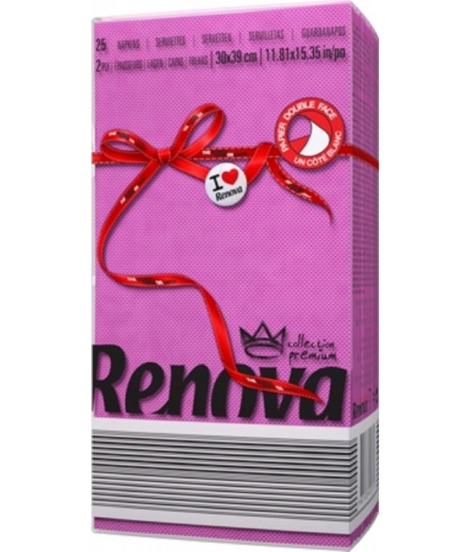 Renova Servilletas Red Label FUCSIA 2C 25un