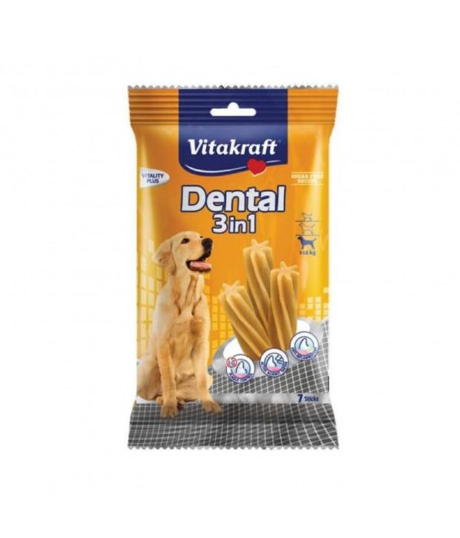 Vitakraf Snack Dental 3 em 1 CÃO MÉDIO 120gr