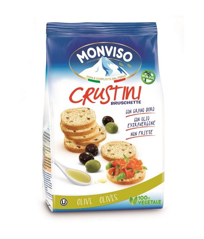 Monviso Crustini Azeitonas Verdes & Pretas 120gr
