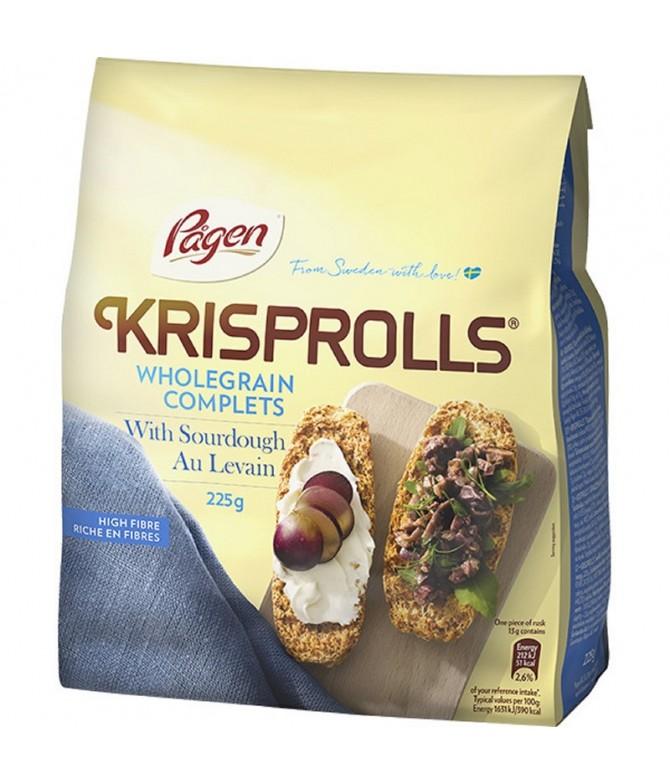 Krisprolls Biscotes Integrales 225gr