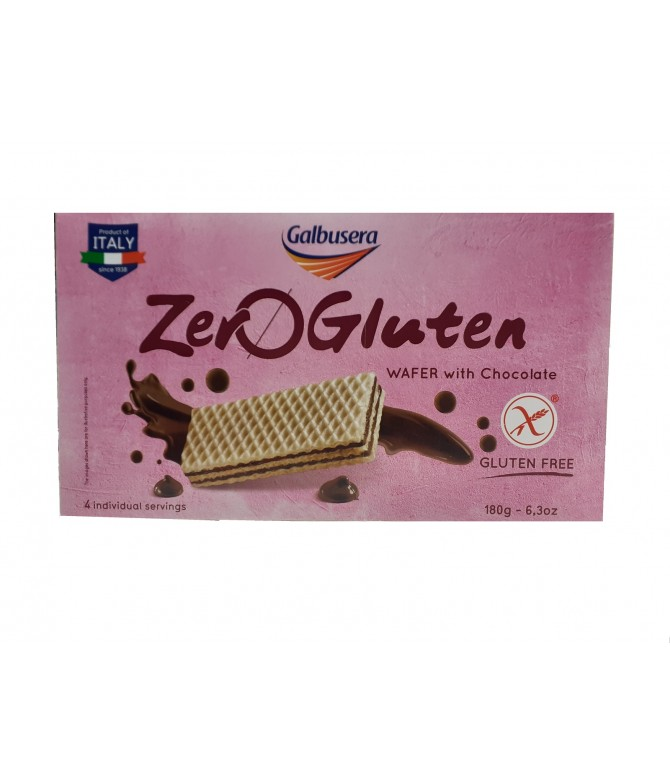 Galbusera Wafer ZeroGluten Chocolate 180gr