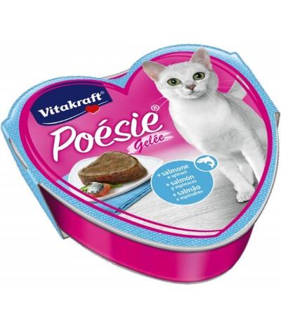 Latita Poésie Gelatina de Salmón y Espinacas para Gato Vitakraft