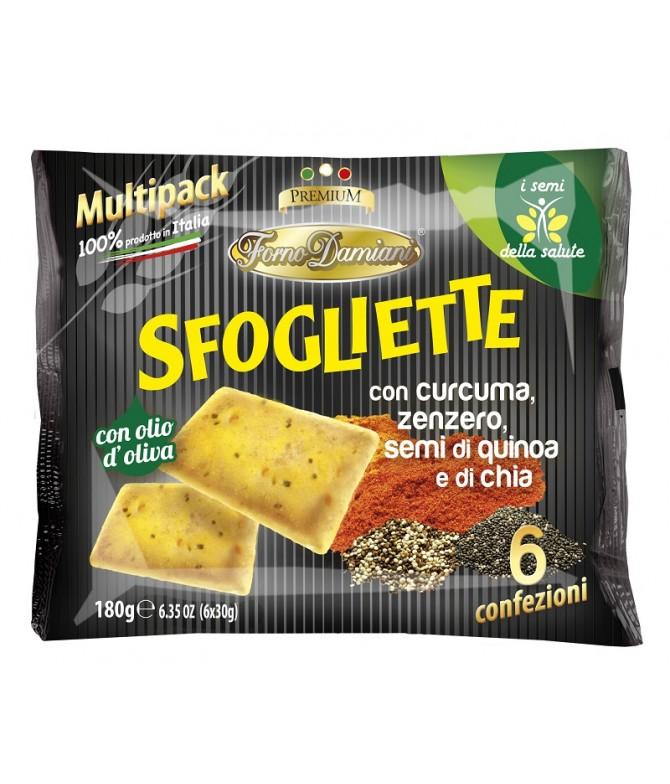Sfogliette Curcuma Chia & Quinoa 6x30gr