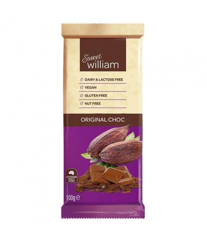 Sweet William Chocolate Original 100gr