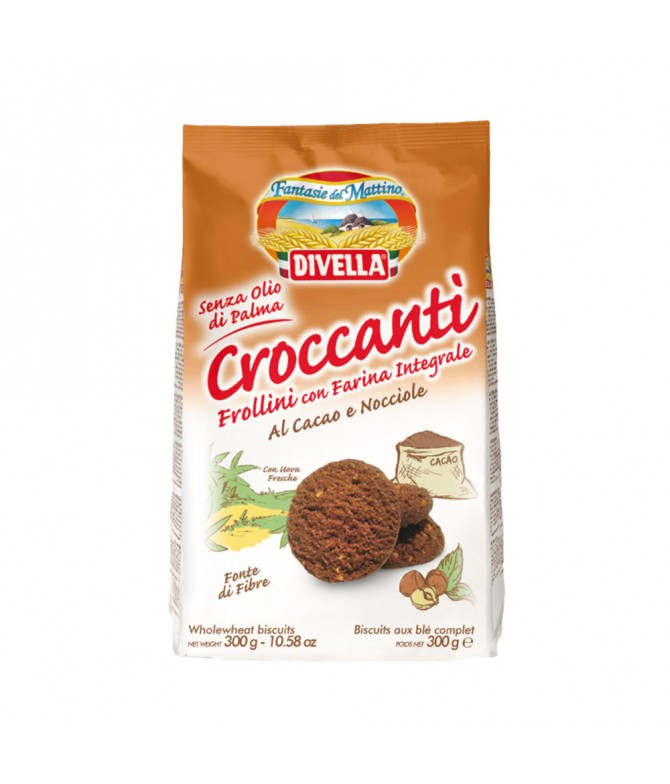 Divella Galletas Chocolate & Avellanas Integrales 300gr T