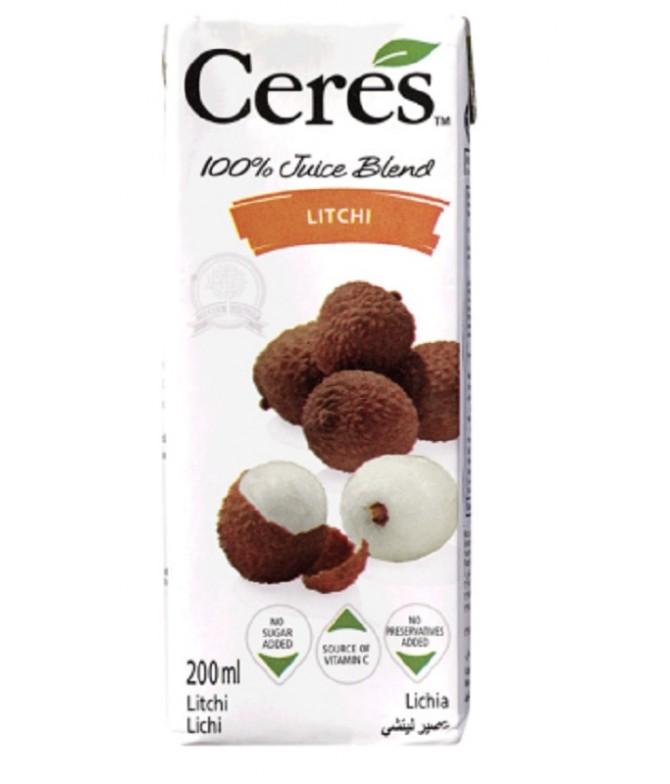 Ceres 100% Sumo Lichia 200ml