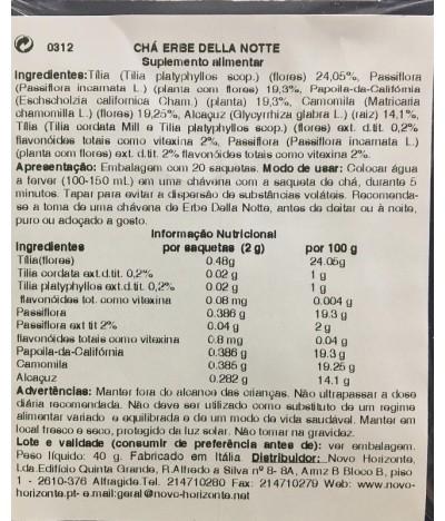 ESI Erbe Della Notte Tisana 20un T