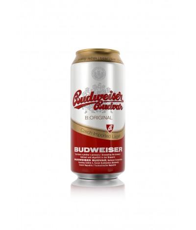 Cerveja Budvar em lata de 50 cl. Budweiser